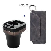 JINXINGCHENG עור מקרה עם מטען לרכב עבור Iqos 3 טעינה עם להעיף כפול ספר כיסוי עבור Iqos 3.0 מקרה פאוץ תיק מחזיק