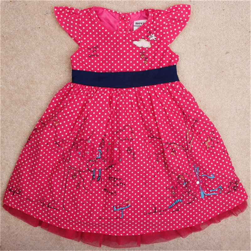 novatx H4895 baby girls clothes kids chilren letter dot decoration dresses fashion style wears dress for girl nova brand clothes retail fashion summer girl dress sleeveless kids dresses for girl tutu party dress lace polka dot novatx brand girls clothes