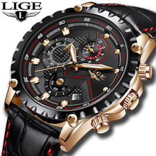 LIGE Mens Watches Top Luxury Brand Fashion Business Quartz Watch Men Leather Military Sport Waterproof Clock Relogio Masculino relogio masculino men watches lige top brand luxury fashion quartz clock men s business waterproof big dial military sport watch