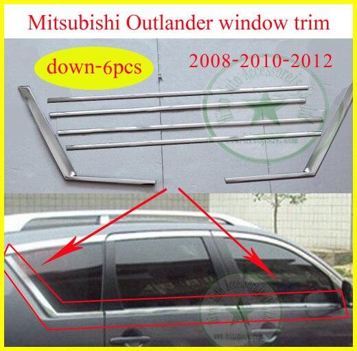 for Mitsubishi old Outlander EX window trim /frame window sill decoration 2008 2009 2010 2011 2012 year, 6-18pcs,promotion price for nissan qashqai 2008 2009 2010 2011 2012 2013 car inner decoration trim