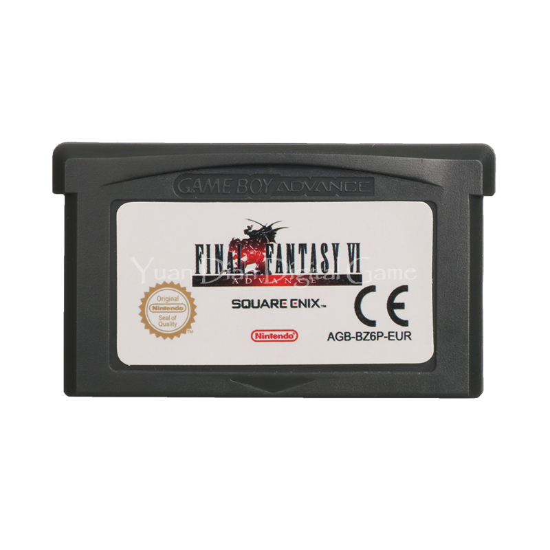 Nintendo GBA Video Game Cartridge Console Card  Final Fantasy VI Advance ENG/FRA/DEU/ESP/ITA Language Version [50set lot] for nintendo gameboy series game cartridge housing shell replacing cover case for gb gbc gba sp