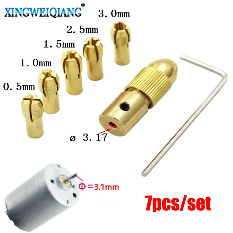 цена на from 0.5 to 3 mm small electric drill Bit Micro Collet Chuck Drill twist rotation