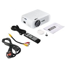 LESHP Portable Multi-media LED Video Projector 1080P HD 1200 LM with Keystone for Office Home Cinema Theater TV Game 1000:1 цена
