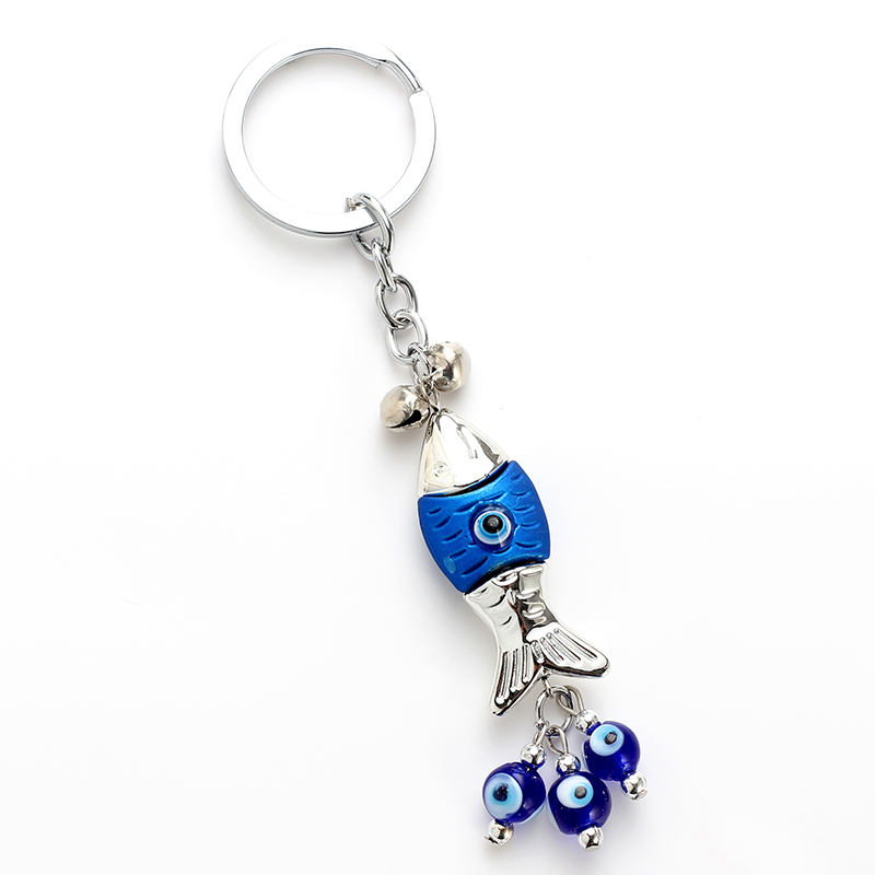 Key Chains Lucky Eye Blue Glass Charms Keychain Evil Eye Braid Pendent Key Chain Alloy Car Key Chain Men Women Fashion Jewelry Ey4716 Orders Are Welcome. Jewelry & Accessories