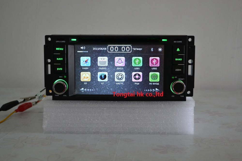 6.2 for Jeep grand,patriot,wrangler,for dodge,300c Car DVD Player,GPS navigation,ipod,radio,bt,canbus,wince 6.0,English,russian