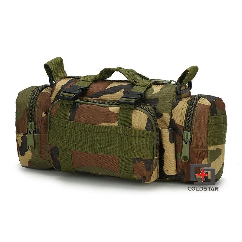 Woodland Camo Waist Pocket Camera Bag Saddle Bag Tactical Military Fans Outdoor Leisure Shoulder Messenger Backpack