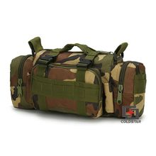 Woodland Camo Waist Pocket Camera Bag Saddle Bag Tactical Military Fans Outdoor Leisure Shoulder Messenger Backpack