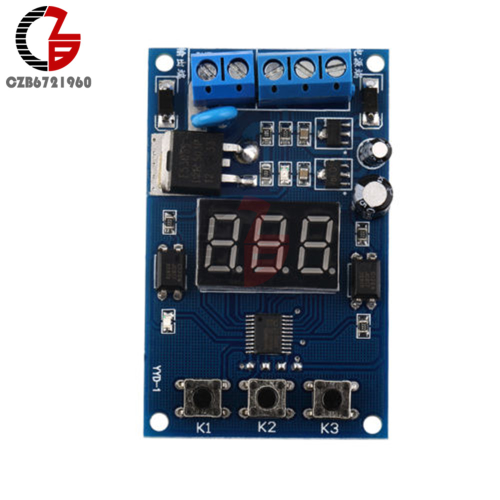 DC 5-30V 9V 12V 24V LED Display Trigger Cycle Timer Delay Switch Circuit MOS FET Driver Control Board Module dc 12v led display digital delay timer control switch module plc