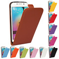 Moda de luxo vertical leather flip phone case capa para samsung galaxy s6 borda mais s5 mini s4 s3 mini note 4 3 2