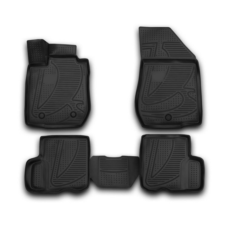 Car Mats 3D salon For LADA Largus, 2012-> 4 PCs (polyurethane) 3d floor mats for lada largus element f620250e1