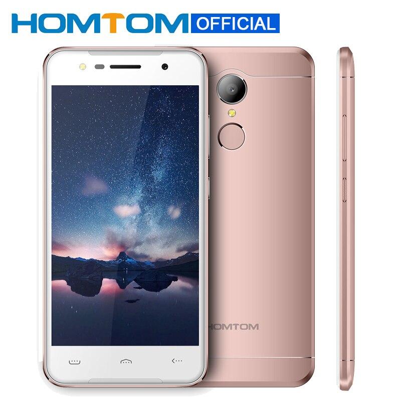 Цена за Оригинал homtom ht37 android 6.0 mtk6580 quad core 5.0 дюймов смартфон сотовый телефон 2 ГБ ram 16 ГБ rom отпечатков пальцев мобильный телефон