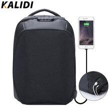 KALIDI 15.6 pouce Sac D'ordinateur Portable antivol Sac À Dos Femmes Externe USB Charge Portable Sac À Dos sac D'école pour les Adolescentes feminina