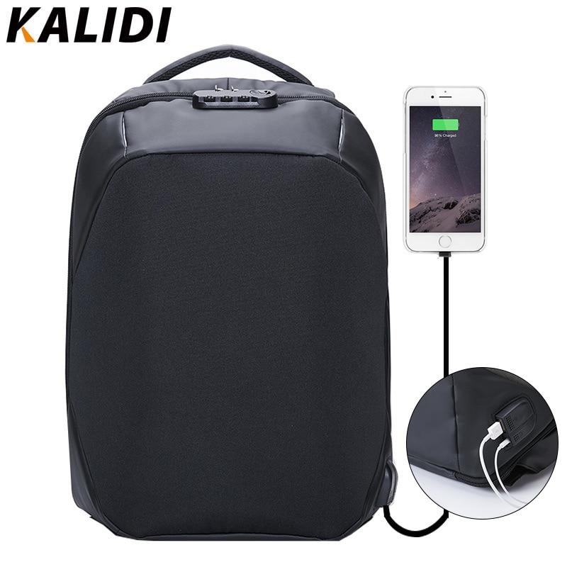 KALIDI 15.6 inch  Waterproof Laptop Bag Backpack Men Anti theft  Backpack USB Charge Notebook Backpack  School bag  for Teenage