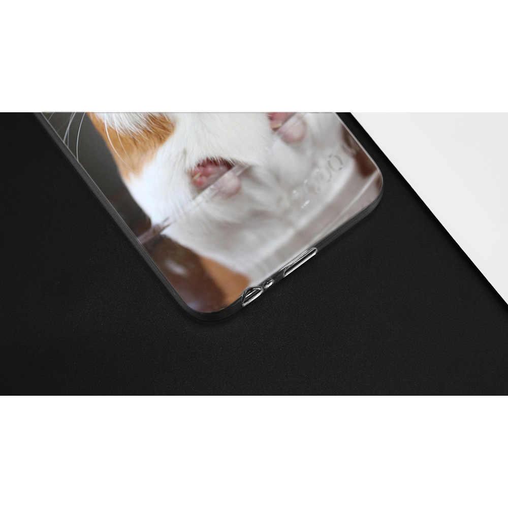 غينيا خنزير لطيف الحيوان الحيوانات الأليفة الأزرق حقيبة لهاتف سامسونج غالاكسي ملاحظة 8 9 J4 J6 J8 A6 A8 A7 A9 ستار لايت s8 s9 plus 2018 لطيف غطاء جديد