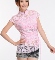 Charming Chinese Women S Lace Tops Shirt Cheongsam White Sz S M L