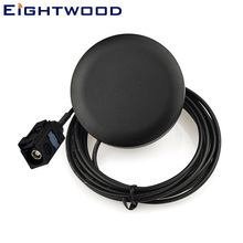 Eightwood 2320-2345 MHz Radio Antenna DAB Digital Car Audio Aerial Fakra A Connector 3m Cable Adhesive Mounting