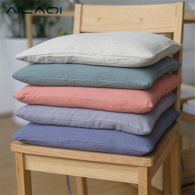 Captivating 2017 New Japanese Cotton Cushion And Linen Chair Cushions Pillow Winter  Thick Removable Wash Pants Core