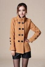 New Womens Slim Stylish Double Breasted Coat Winter Long Jacket Overcoat Coat Men's Fashion Wool Blends