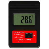 UYIGAO UA902C+ Digital Thermometer High Accuracy Digital LCD Outdoor Electronic Thermometer Red+black