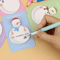 милый каваи корейский снеговик рождественский подарок планировщик наклейки липкие блокнот для заметок канцелярские школьные принадлежности