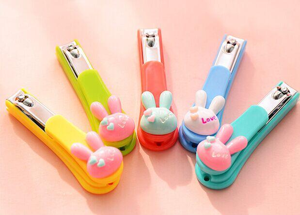 Free Shipping 10pieces Lot Mixedcolor Kawaii Creative Cartoon Rabbit Stainless Steel Nail Gel Finger Toe