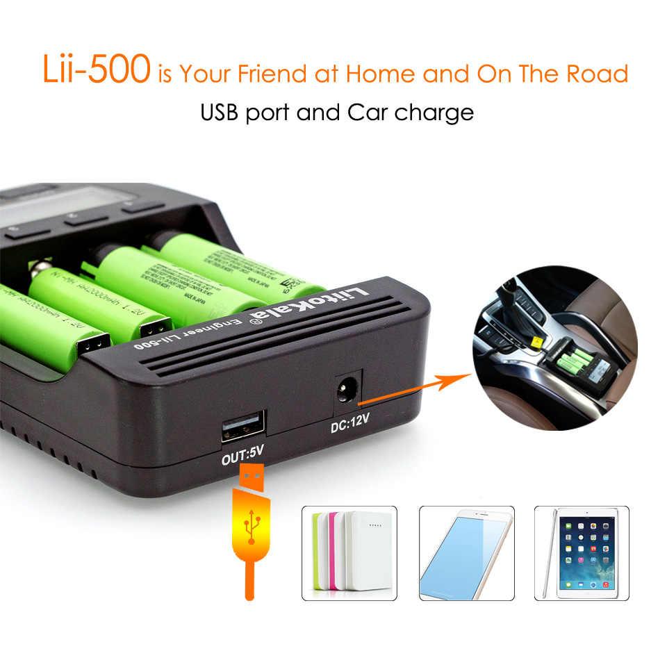 Liitokala lii500 Smart universel LCD LI-ion NiMh AA AAA 10440 14500 16340 17335 17500 18490 17670 18650 chargeur de batterie