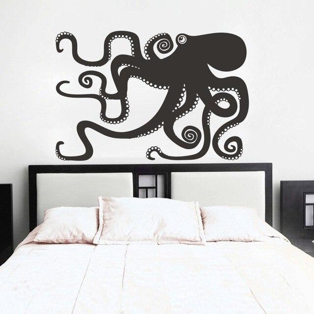 Large octopus decal ocean wall decor sea octopus wall art bathroom bedroom living room sticker 133cm