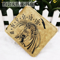 Anime DATE A LIVE Fate Stay Night Fairy Tail FFF Guilty Crown PU Embossed Mark Short