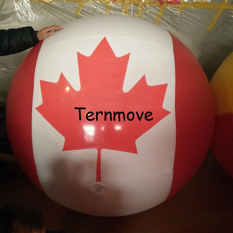 pvc Canada helium Balloon with Japan south korea National Flag Printing for Events Advertising giant inflatable air sky balloon