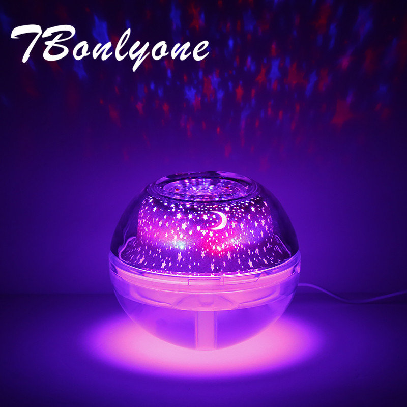 TBonlyone Projector Light 500ML Large Capacity Humidifier with Colorful Light Ultrasonic Aroma Diffuser Water Oil Air HumidifierTBonlyone Projector Light 500ML Large Capacity Humidifier with Colorful Light Ultrasonic Aroma Diffuser Water Oil Air Humidifier