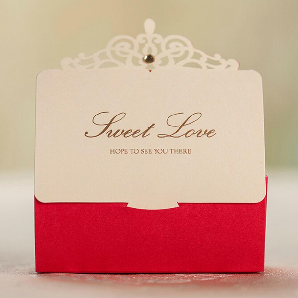 Royal Red Wedding Invitation Card and Menu Customized Printing Favor ...