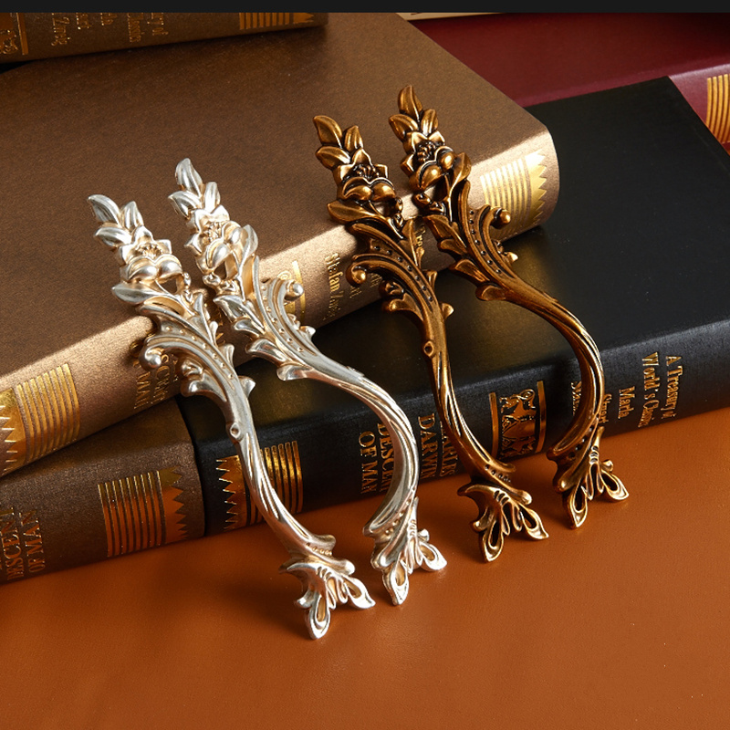 3pcs High Quality European antique furniture handle kitchen cabinet handles cupboard drawer door pulls,Free shipping. european modern bronze doors handle chinese antique glass door handle door handle carving