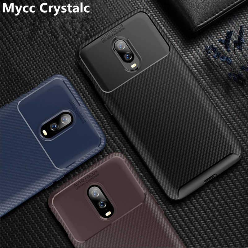 newest collection bcc32 2ab20 Carbon Fibre Case For Oneplus 6T One plus 6t McLaren Edition Slim Rugged  Armor Shockproof Soft Rubber Silicone Phone Cover