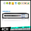 XMeye Hi3521A Chip 1080P 2MP Full HD 4CH 4 Channel Surveillance Hybrid Coaxial 5 in 1 TVI CVI NVR AHD DVR  Free Shipping