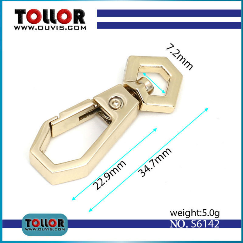 High Quality Swivel Dog Buckle Handbag Hardware Metal Clasp For Bag Trigger Snap Hook Buckle Luggage DIY Accessories