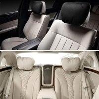 Hot New 2 Pcs Universal Auto Car Headrest Maybach S Class Ultra Soft Neck Pillow 2 Colors Interior Accessories