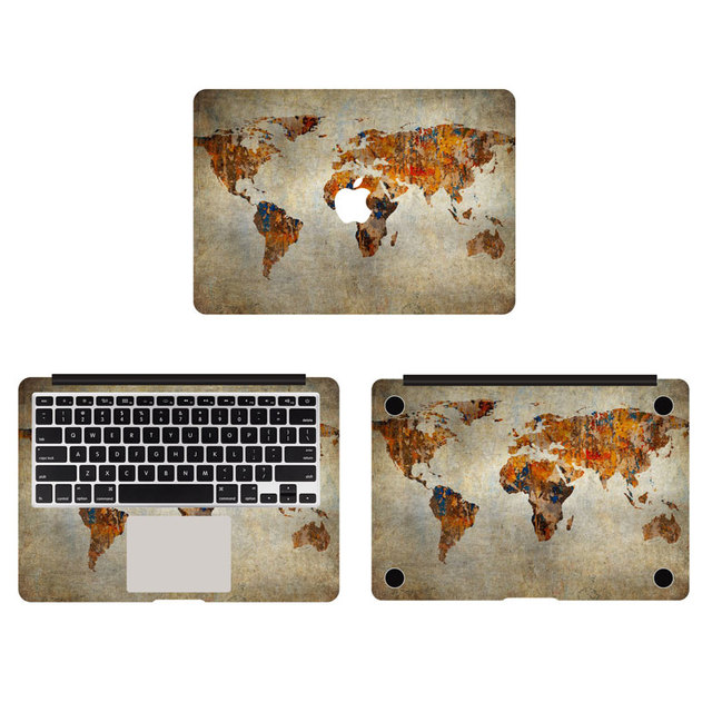 Retro world maps vinyl full body cover decal laptop stickers for retro world maps vinyl full body cover decal laptop stickers for apple macbook air pro retina gumiabroncs Gallery