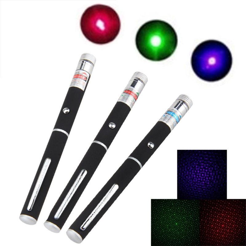 5mW 532nm Laser Pen Red/Green/Purple Light Laser Pointer Pen Starry Continuous Line Beam