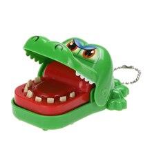 Большой рот крокодил кусающий палец игра Забавный подарок затычки новинка игрушки для детей крокодил зубной укус с брелком