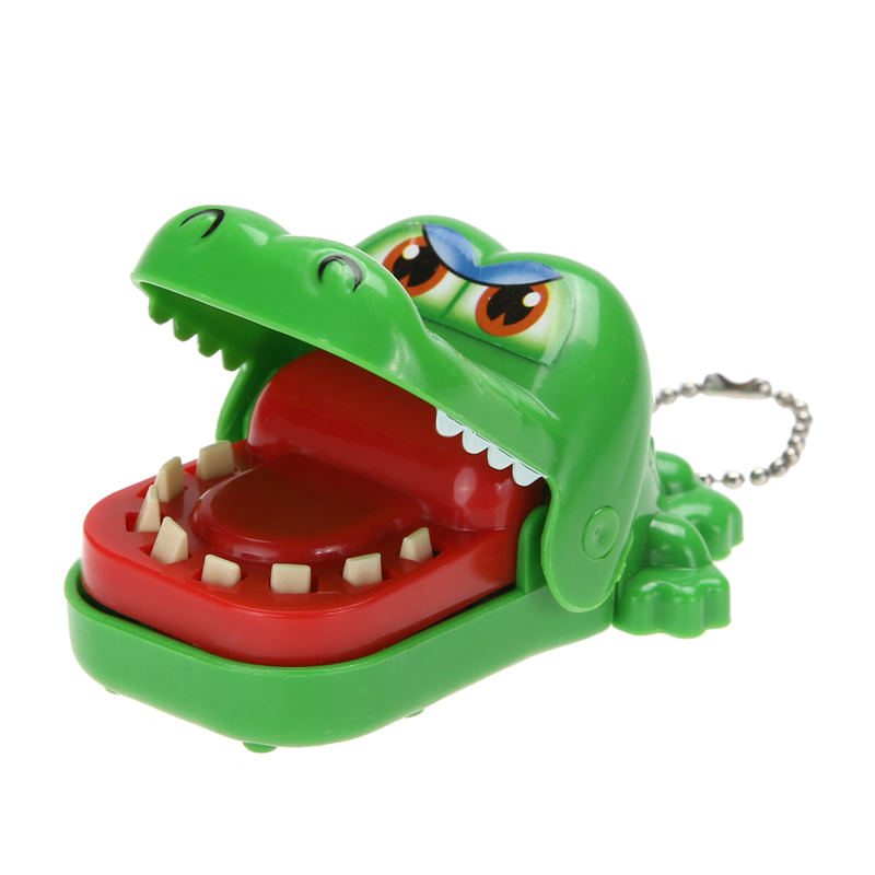 Big Mouth Crocodile Biting Finger Game Funny Gift Gags Novelty Toys For Kids Crocodile Dentist Bite With Keychain
