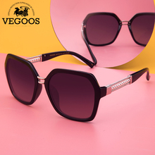 VEGOOS Designer Sunglasses for Women Polarized Oversized Black PC Frame Fashion Ladies Shades UV400 Protection with Case #9089