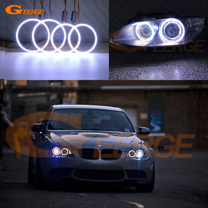 For BMW 3 Series E90 E92 E93 M3 2007-2013 Coupe cabriolet Excellent Ultra bright illumination COB led angel eyes kit bmw m3 e30 coupe