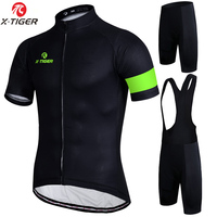 X Tiger Simple 7 Colors Cycling Jersey Set Summer Bike Clothes Mans Summer Bicycle Clothing Maillot