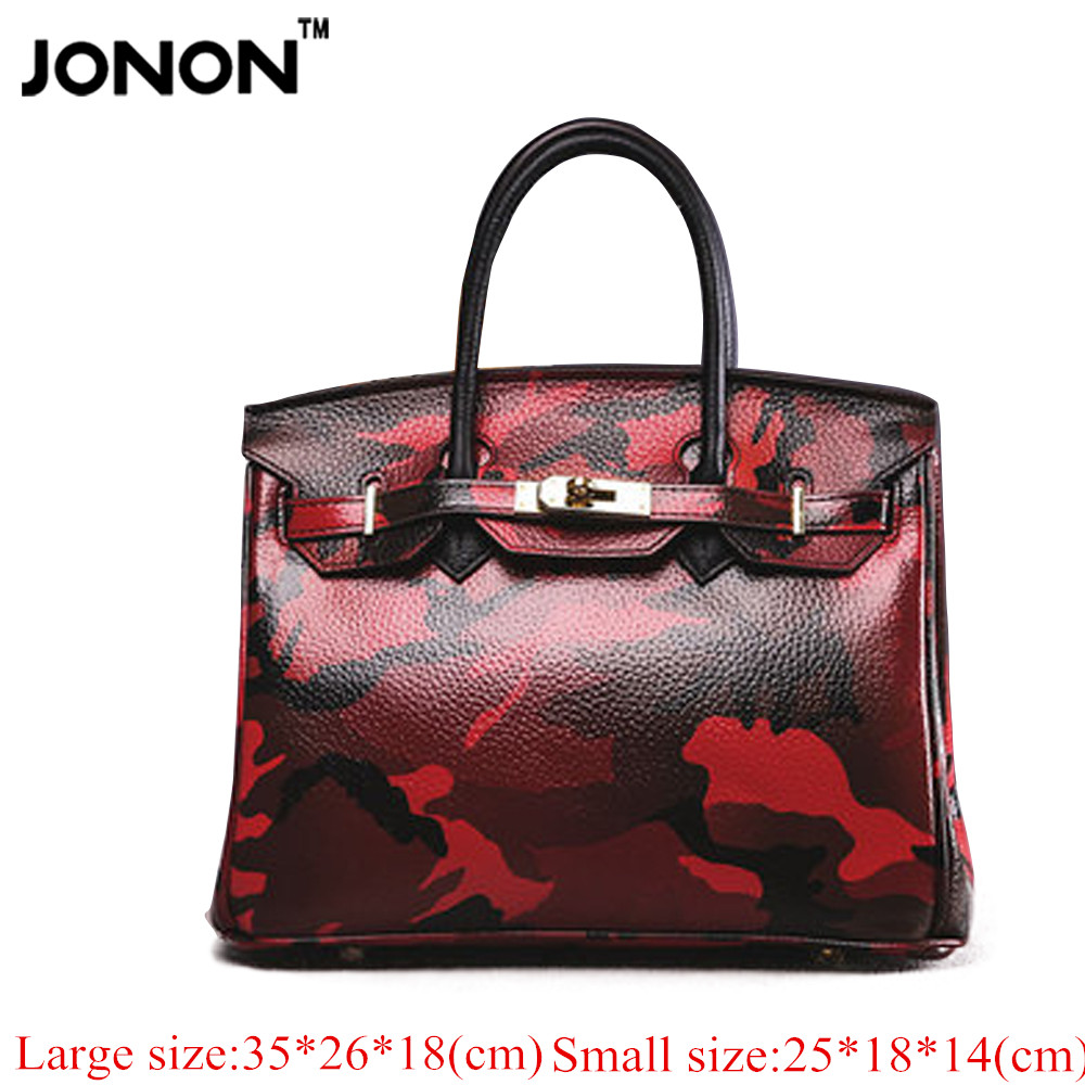 JONON Camouflage women famous brand desinger women leather handbags designer handbags high quality crossbody bags for women