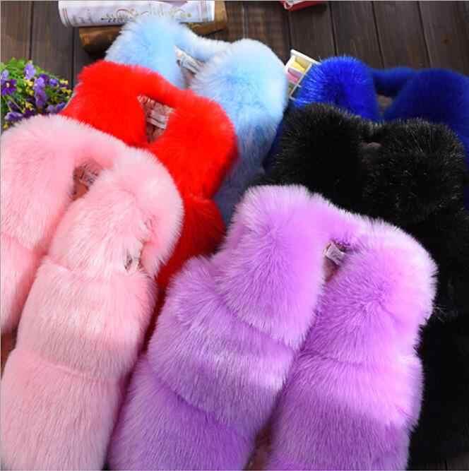 Жилет из искусственного меха для малышей/верхний жилет/жилеты для девочек на осень, модные однотонные жилеты/11 цветов в наличии