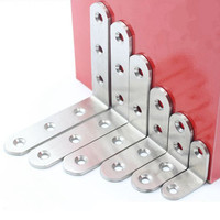 20 125mm Thickened Stainless Steel Corner Brackets L Shaped Brackets 90 Degree Corner Bracket Furniture Hardware