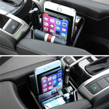 Yimaautotrims Center Storage Pallet Container Multi-grid Box Phone Tray Accessory Cover Kit Fit For Honda Civic 2016 2017 2018