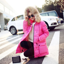 Fashion Winter Jacket Women Real Raccoon Fur Women's Down Jacket Solid Color Parkas Female Long Casual Coat Overcoat C1261