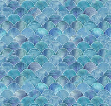 Mermaid Fish Scale Ocean Wave Blue backdrop High quality Computer print birthday backgrounds(China)