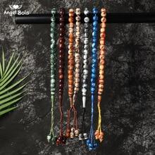 Tesbih oração islâmica grânulos tasbih muslim oração grânulos rosário charme jóias islam pulseira allah oriente médio jóias
